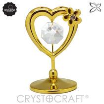 Coração Ouro 24k C/cristais Swarovski- Bolo Casamento Namoro
