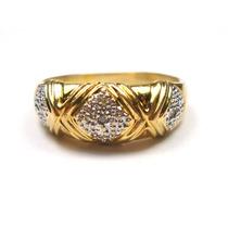 Joalheriavip Anel Aparador Ouro 18k Com Diamantes