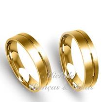 Par De Aliança Ouro 18k 5m 5 Gramas Casamento Noivado