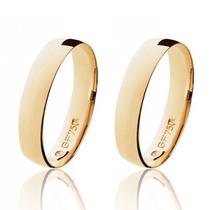 Par Aliança Casamento Anatômica Ouro 18k Polido Frete Grátis