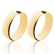Par Aliança De Casamento Em Ouro 18k Polido Frete Grátis