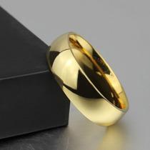 Linda Aliança Noivado Casamento 6mm Folheada A Ouro 18k!!!