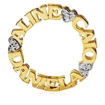 Pingente Mandala Em Ouro 18k Com Nome E Diamantes