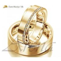 Par Alianças De Ouro 18k 5mm 18 Gramas 5mm Noivado Casamento