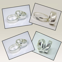 Par Alianças Namoro Prata 950k Ag-072 Frisada E Diamantada