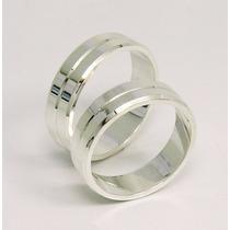 Par De Alianças Compromisso Diamantada Em Prata 950 Lei