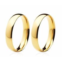 Par Alianças Ouro 18k 4 Gr - 3mm Noivado E Casamento Cod 873