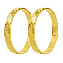 Par De Alianças Ouro 18k 3mm 2,5 Gramas - Frete Grátis