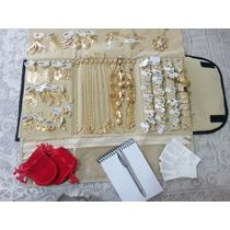 Atacado Kit 60 Pçs Semi-jóias Folheadas+estojo +frete