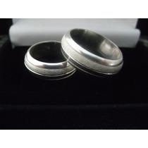 Par De Alianças Prata 950 Diamantada Giratória