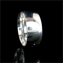 Alianças De Prata Anatômicas Grossas 8,2 Mm - Terra Da Prata
