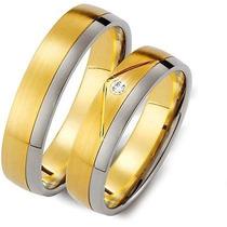 Par De Alianças Ouro 18k 5mm 16gr 1 Diamante 4p Frete Grátis