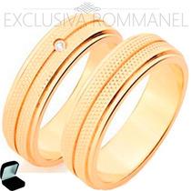 Rommanel Alianças Anel Ouro 18k Noivado Compromisso 511990