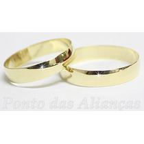 Par De Alianças Ouro 18k Com Garantia Permanente Promoção!!!