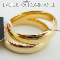 Rommanel Par Aliança Folheada Ouro Namoro Compromisso 511026