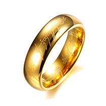 Anel Aliança Amor Élfico Senhor Dos Anéis Em Tungstênio Puro