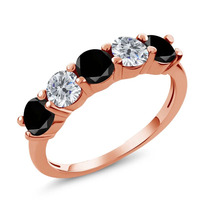 Black Diamond Anel De Ouro Rosa