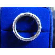 Alianca Inteira De Ouro Branco 18k Com Diamante 12