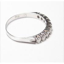 Ivi1388 = 1/2 Aliança Vivara O.branco 18k ,diamantes !!!