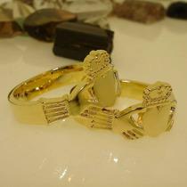 Aliança Claddagh C1805 Ouro Banho 18k Ojoalheiro