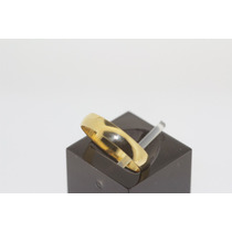Par De Aliança Anatômica Em Ouro 18k 0.750 Com 4,3mm E 4grs