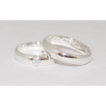 Alianças Baratas Tradicionais Namorados De Prata 950 (par)