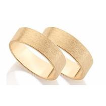 Par Aliança Grossa Folheada Ouro Rommanel Casamento 511619$