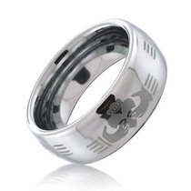 Bling Jewelry Claddagh Mão Celtic Design Anel Tungsten 8mm