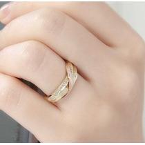 Unidade Aliança Love Ouro Amarelo E Rosê 18k/750 E Diamantes