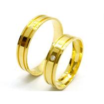Joianete Par Alianças Ouro 18k-750 5gramas Casamento