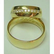 Par Alianças 14 Grs Ouro 18k Diamantes Frete Nota Fiscal