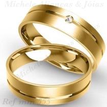 Par De Aliança Ouro 18k 7 Gramas 5m Anatômicas Casamento