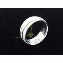 Par De Alianças Em Prata 950 - Meia-cana, Diamantada Prime
