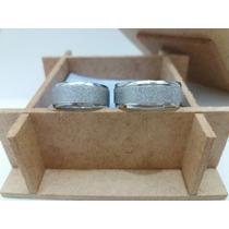 Par De Aliança De Compromisso De Aço Inox 316l+ Brinde