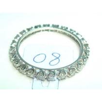 Ivi1388 = Aliança Inteira O.branco 18k Diamantes Aro 19,5 !