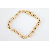 Pulseira Modelo Cartier ( Cadeado) Oca - Em Ouro 18 Kl 750