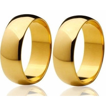 Alianças Ouro 18k 16 Gramas 6mm Brilhantes Casamento Noivado
