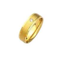 Par De Alianças Prata 950 Banhadas A Ouro 18k Zirconia