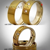 Par Aliança Compromisso Namoro Prata 950 Ouro 18k Zirconias