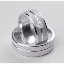 Par De Alianças Prata 950 Namoro Compromisso 7mm Gravação