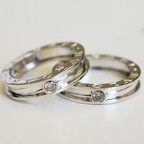 Anel Noivado Modelo Bvlgari Diamantes - Cwb Joias