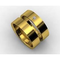 Promoção Par Aliança Compromisso Casamento Folheada Ouro 18k