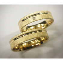 Par De Alianças Prata 950 Ouro 18k 6mm Zirconias Casamento