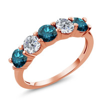 Blue Diamond Anel De Ouro Rosa