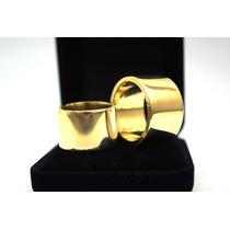 Alianças Cor De Ouro Feita Com Moeda Antiga Par 14mm