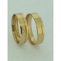 Alianças De Ouro 18k 6mm 10 Gramas - Anatômicas - Casamento