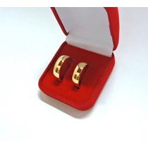 Par Alianças Banhada 3x Ouro Anatomica Casamento 8mm Barata