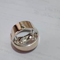 Promoçao Par De Aliancas Ouro 18k/ Prata 8mm Anatomicas Shai