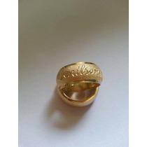 Par De Alianças Prata 950 Banhada À Ouro 18k 10mm