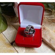 Aliança De Namoro Compromisso Prata Aço Inox 316l